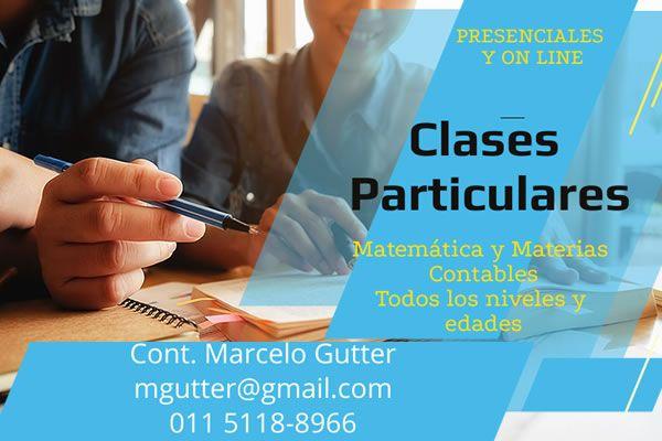 Marcelo Gutter – Profesor de matemática y contabilidad